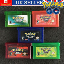Pokemon For GBA SP NDS FIRE RED/RUBY/LEAF GREEN/SAPPHIRE/EMERALD Gameboy Advance