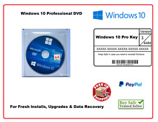 Microsoft WINDOWS 10 Pro PROFESSIONAL 64 bit FULL DVD 32 + LICENSE CODE key 1909