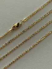 Solid 14k Yellow Gold Ladies 1.5mm Sparkle Rope Chain Twist Necklace Diamond Cut