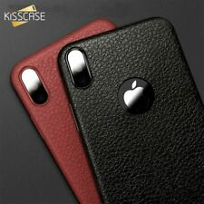 KISSCASE Ultra Thin Phone Cases For iPhone 6S 6 7 8 Plus XS Max Cover Leather Sk