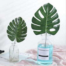 48PCS Faux Monstera Leaves Artificial Tropical Palm Leaves Hawaiian Jungle DIY