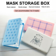 1pcs Mask Case Portable Disposable Face Masks Container Safe Health Disposable