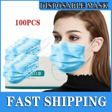 100pcs Protection Unisex Disposable Non-Woven Three-layer Filter