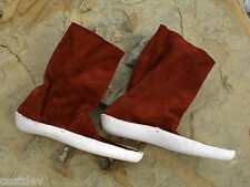 MEN's Dark Red or White ZUNI BOOTS THICK SOLE MOCCASINS