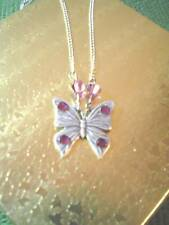 NECKLACE - SOLID WINGED/DELICATE OPEN WINGED BUTTERFLY