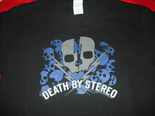 DEATH BY STEREO Skulls T-Shirt **NEW music band concert tour