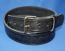 Eagle biker Black Belt Hand Made Real Leather Made in England large xl xxl 3xl