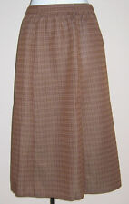 NEW LADIES SLIMMA BROWN CHECK PULL-ON SKIRT PLUS SIZES 24 & 26