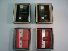 TOP QUALITY LEATHER CREDIT CARD HOLDER,VISCONTI, BOXED