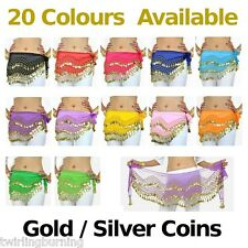 Belly Dancing Bellydance Coin Belt Hip Scarf Skirt Wrap
