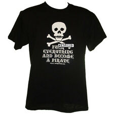 F**k Everything And Become A Pirate T-Shirt S-4XL skull