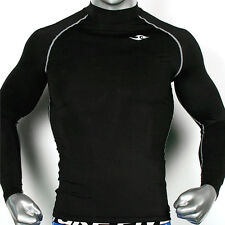 Mens COMPRESSION skin tights base layer shirts Running WORKOUT sports black Top