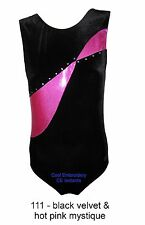 Velvet with crystal tank CE gymnastics leotard VH2-111