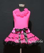 Hot Pink Trim Pettiskirt Hot Pink Top Hot Pink Ros 1-8Y