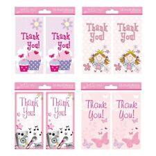 16 x Girls Female Thank You Cards 4 Different Designs 2 Choose