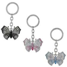 Large Butterfly Key Chain, Key Ring, Key Holder w/ Brilliant Cut Crystals