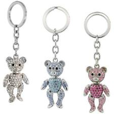 Movable Teddy Bear Key Chain, Key Ring, Key Holder w/ Swarovski Crystals