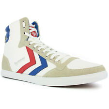 Hummel Stadil Slim Hi White Navy Red Trainers Shoes