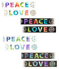 70s Style Hip & Groovy Peace & Love Mural Style Pre-pasted Wallpaper Wall Border