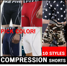 COMPRESSION base layer shorts pants pick color! tight skin under gear short pant