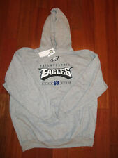 PHILADELPHIA EAGLES SWEATSHIRT HOODY GRAY MADE BY NFL APPAREL SIZE L XL XXL NWT