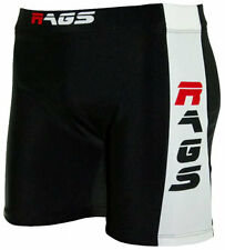 RAGS  BLACK / WHITE FIGHT SHORT VALE TUDO SHORT MMA BJJ FIGHT  SIZES  S-XL