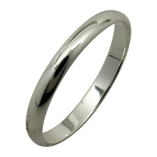Sterling Silver Plain 2mm Band Wedding Ring Solid 925 Jewelry Rounded All Sizes