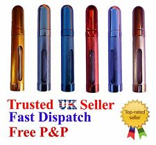 Refillable Perfume, Aftershave Travel Atomiser / Atomiser 12ml Choice of Colours