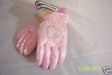 Girls ~ Faded Glory ~ Pink with Double Heart Bling ~ Insulated/Waterproof-Age 3+