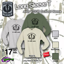 Awesome Long Sleeve with YOUR School Name and JROTC Design