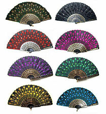 Lots 8 Colors for choose Lady's fans embroider silk hand exquisite Folding fan