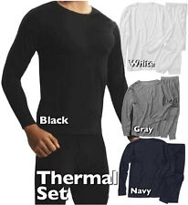 Pick Color Mens Long Johns Thermal Set Thermo Top Long Sleeve Shirt Sweat Pant