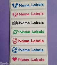 25 Iron on Personalised Clothes Name School Identity Labels Tapes Identity Tags