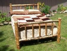 Twin Full Queen King Rustic Pine Log Bed Frame, country lodge cabin western wood
