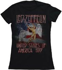 Led Zeppelin America 1977 Tour Licensed Women Junior Shirt S-XL