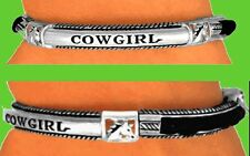 COWGIRL Western Barrel Racing Horse Texas Rodeo Bracelet Mother Boot Hat Jewelry