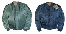 ORIGINAL US ALPHA AIR FORCE VINTAGE MA1 / MA-1 BIKER BOMBER FLIGHT COMBAT JACKET