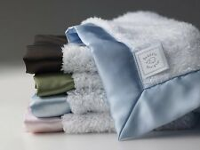 Swaddle Designs Baby Security Blanket Lovie - with White Fuzzy