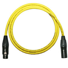 *Custom Length Microphone Leads* Neutrik Gold XLR Plugs, Yellow Van Damme Cables