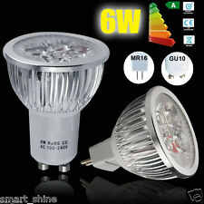 4 10x 6W MR16 GU10 Day/Warm White LED Bulbs Spotlight Lamp High Power Light Bulb