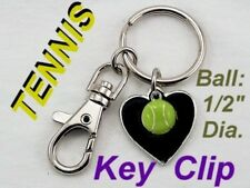 Sports TENNIS BALL Racket School Kids Key Chain Purse Badminton Necklace Jewelry