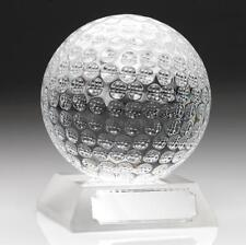 GLASS GOLF BALL AWARD * FREE ENGRAVING* FREE  PRESENTATION BOX*
