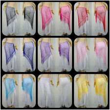 WS5 Fashion belly dance hip scarf Triangle Shawl 9 colours a variety of optional