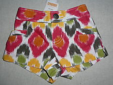 Gymboree BATIK SUMMER Multi Color Pink Green Yellow White Shorts NWT 18-24