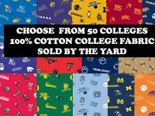 COLLEGE COTTON FABRIC-UNIVERSITY COTTON FABRIC-SOLD BY THE YARD-SCHOOLS K-O #45