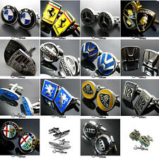 Gift Box Gadget Top Gear Car Mark Mens Cufflinks for Formal Shirt Wedding Party