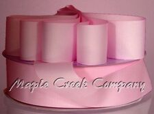 PINK Grosgrain Ribbon Roll ASSORTED WIDTHS For Sewing and Decorating