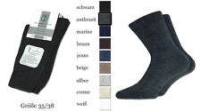 6 pais woman´s cotton socks for diabetics without rubber with handlinking seam