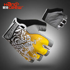 2015 New Style Cool outdoor cycling bike bicycle Sports Half FInger Glove Yellow