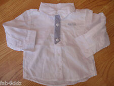 BNWOT Mothercare Humphreys Corner smart white boys shirt 0 3 6 9 12 18 24 mths